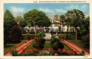Florida Ormond Beach Winter Home Of John D Rockefeller 1935 Curteich