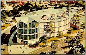 1964 NEW YORK WORLD'S FAIR Expo Postcard Pavilion of American Interiors Unused