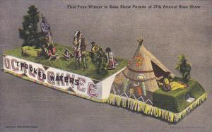 Ochlochnee Indian Float 1st Prize Winner 27th Anual Rose parade California