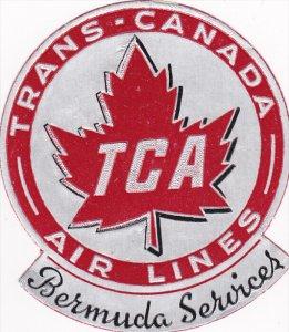 Trans-Canada, TCA , Bermuda Services label , 30-50s