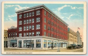 Billings Montana~Securities Building~Great Western Liquors~1920s Cars