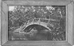 Bridge in Echo Park, Los Angeles, California c1910s Vintage Postcard