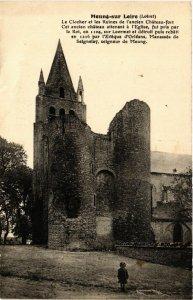 CPA AK MEUNG-sur-LOIRE - Le Clocher et les Ruines de l'ancien Chateau (632422)