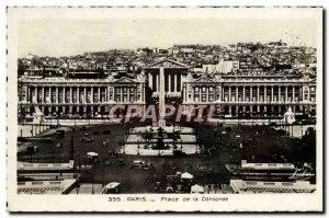 Old Postcard Paris Place De La Concorde