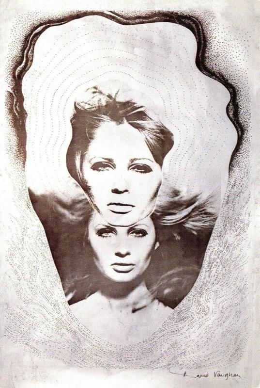 Art Postcard, Double Head by David Vaughan (1967) 88L