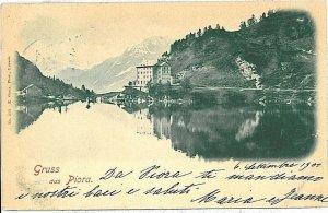 Ansichtskarten Schweiz VINTAGE POSTCARD: SWITZERLAND - GRUSS AUS: PIORA 1900
