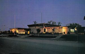 HAWKESBURY , Ontario , 1950-60s , Town Hall at night