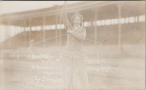 Lucille Mulhall Rodeo Cowgirl Roper Calgary Stampede AB 1912 RPPC Postcard E72