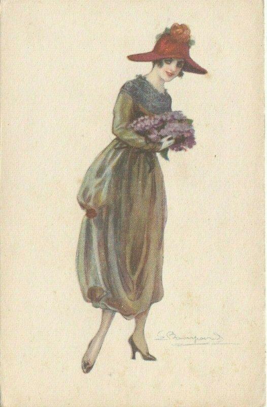 Woman portrait , 1900-10s ; #22A ; Artist Bompard
