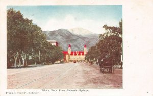 LP22   Colorado Postcard  Pike Peak from CO Springs