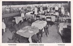 Champs-Elysees, Berkeley Hotel Terrace, Parisian Sidewalk Cafe, Montreal, Que...
