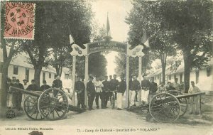 Camp de Chalons Cannon 1904 France Military Postcard 6636