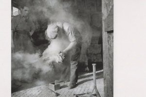 Farmer Shoeing A Horse in 1940s Award Photo Postcard