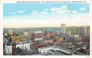 Birmingham Alabama~Birds Eye Downtown Business~Haverty Furniture~1920s Postcard
