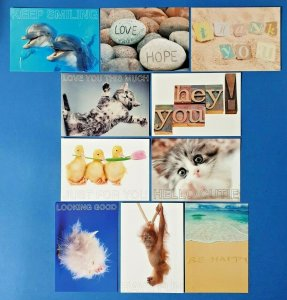 Set of 10 NEW Sentiments Postcards great for Postcrossing & Postcardsofkindness
