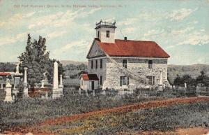 Herkimer New York Old Fort Church Street View Antique Postcard K104297