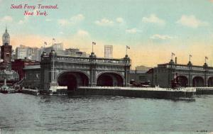 South Ferry Terminal, New York, N.Y., Early Postcard, Unused