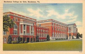 Blackstone Virginia College For Girls Street View Antique Postcard K82673