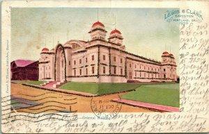 Vtg 1905 Carte Postale Lewis & Clark Exposition Orientale Bâtiment Portland Ou