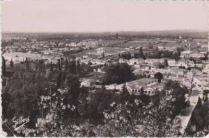 RP: Aerial View of Aerienne sur St. Cybard, Angouleme, Charente France 1954