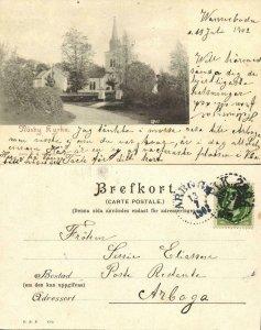 sweden, NASBY NÄSBY, Kyrka, Church (1902) Postcard