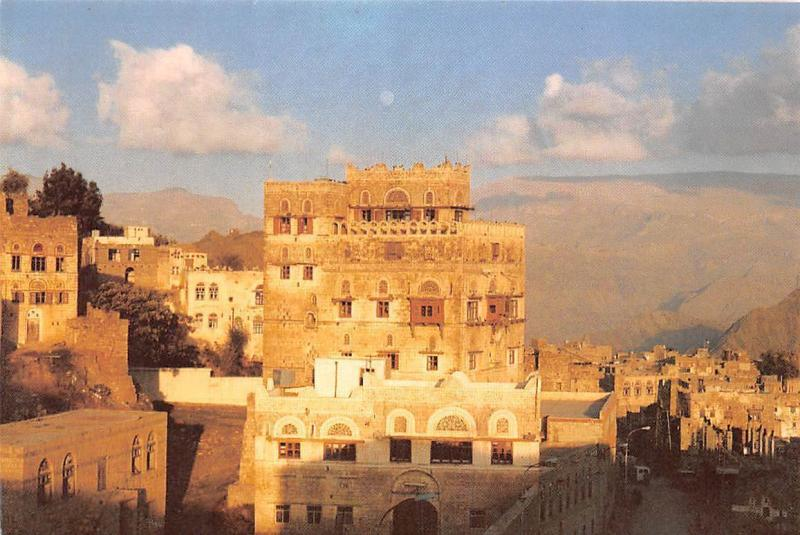 Yemen A view in Hadgah Sunset General view
