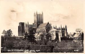 England (Somerset) Wells Cathedral from South East, Real Photograph