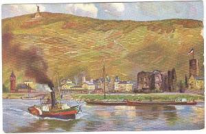 Boats, Rüdesheim Und Der Niederwald, Hesse, Germany, 1900-1910s