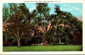 Louisiana New Orleans City Park Suicide Oak