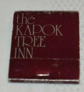 The Kapok Tree Inn Brown 20 Strike Matchbook