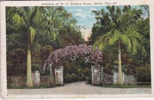 Florida Miami Gateway Of William Jenning Bryan's Home