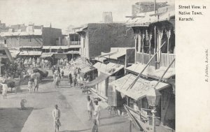 KARACHI , Pakistan , 1900-10s ; Street View in Native Town
