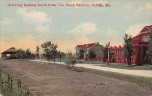 Missouri Sedalia Driveway Looking South From Live Stock Pavillion
