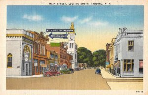 Tarboro North Carolina business district Main St linen antique pc ZE686265