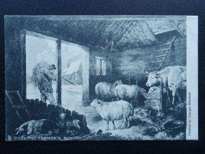 Country Life GILES THE FARMERS BOY Art G. Morland c1904 Postcard by Raphael Tuck