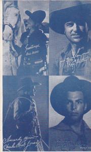 Cowboy Arcade Card Bill Boyd Ray Whitley Charles Jones Buster Crabbe