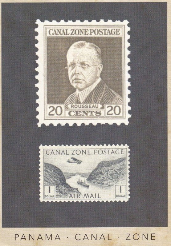 PANAMA, 1940-1960s; Panama Canal Zone, 20cent And $1 Stamps