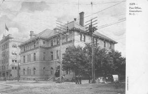 Greensboro North Carolina~US Post Office c1906 Postcard UDB