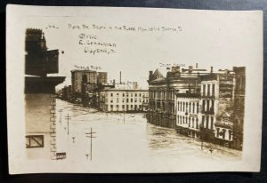 Mint USA RPPC Postcard Dayton Ohio Main Street South In The Flood