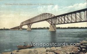 St Lawrence River Canada, du Canada Canadian Pacific Railway Bridge St Lawren...