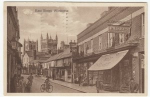 Dorset; East Street, Wimborne PPC, 1935, To J Adams, Cotham, Frisbys Cobblers
