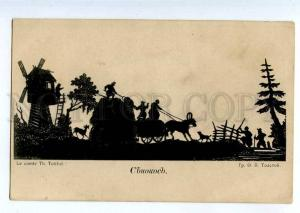 235913 RUSSIA TOLSTOY haymaking Vintage silhouette St.Eugenie