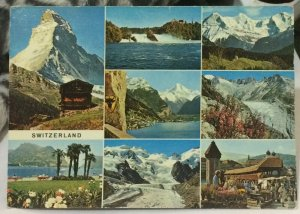 Switzerland Multi-view Matterhorn Rheinfall Eiger Monch etc - posted 1964