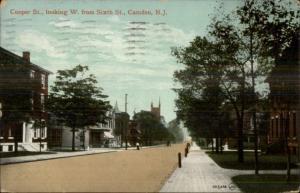 Camden NJ Cooper St. c1910 Postcard