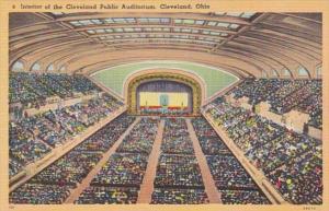 Ohio Cleveland Interior Of Cleveland Public Auditorium