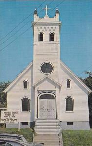 Exterior, St. Michael´s Church, Roman Catholic, Baddeck, Cape Breton, Nova S...