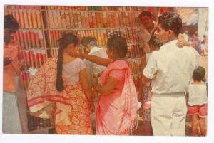 Plastic & Glass Bangles Stall at a village fair, Ceylon, 50-60s