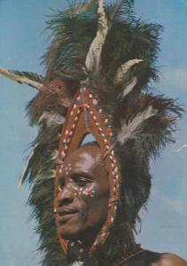 Nigerian African Kikuyu Dancer with Feather Hat Postcard