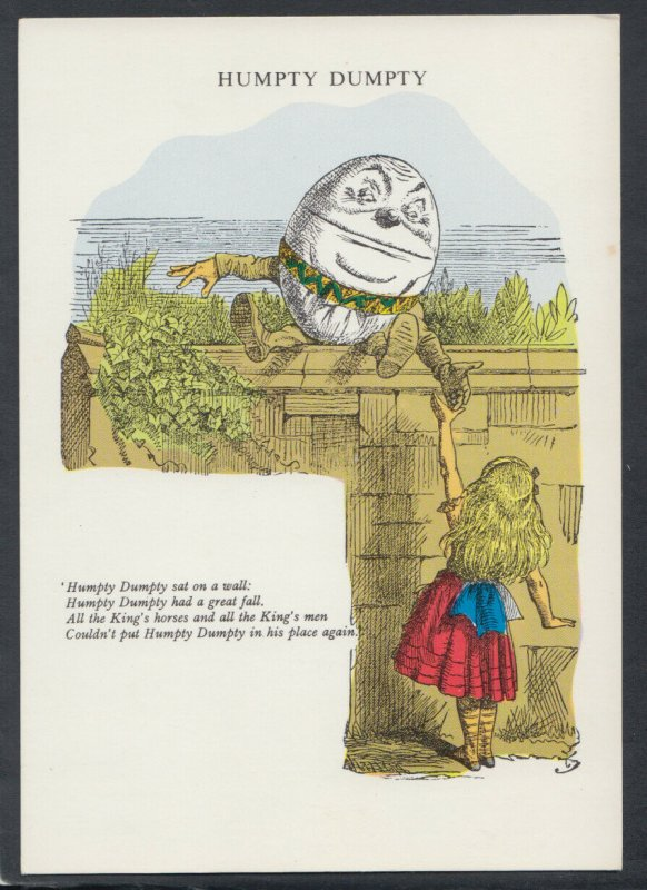 Literature Postcard -Humpty Dumpty,Lewis Carroll Exhibition Hatfield House T6894