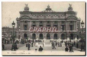 Old Postcard Paris Opera